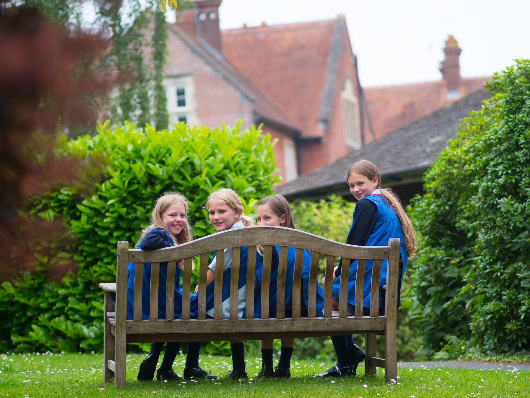 Girls On Bench